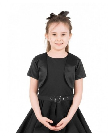 BlackButterfly Satin Sleeve Bolero Childrens