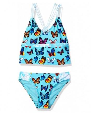 VIGOSS Girls Butterflies Free Tankini