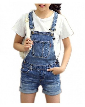 Little Distressed Cotton Overalls Shortalls