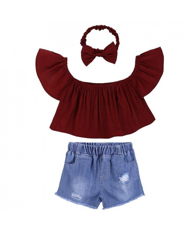 Shoulder Shorts Jeans Headband Outfits