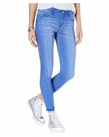 Celebrity Pink Juniors Raw Hem Skinny