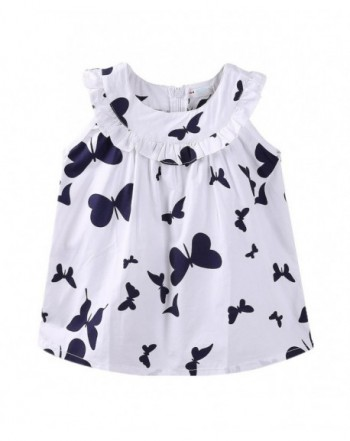 LittleSpring Little Girls Dresses Butterfly