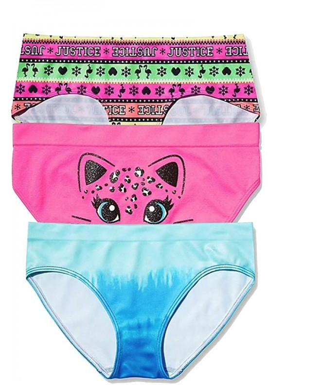Justice Girls Panty Bundle 3 Count
