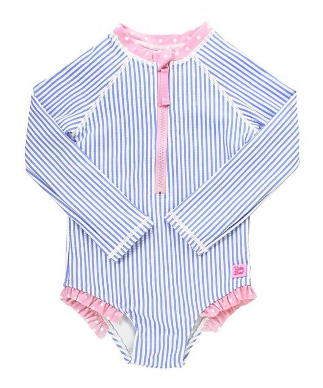 RuffleButts Little Sleeve Zipper Protection