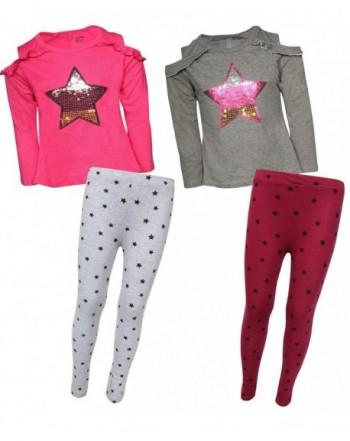 My Destiny Girls 4-Piece Fashion Top and Legging Pant Set