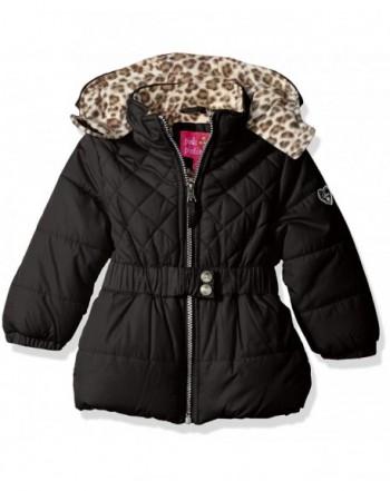 Pink Platinum Quilted Puffer Cheetah