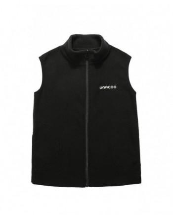 UNACOO Zipper Fleece Sleeveless Pockets