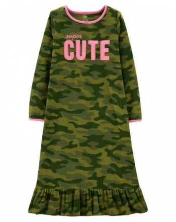 Carters Pajamas Camo Microfleece Nightgown