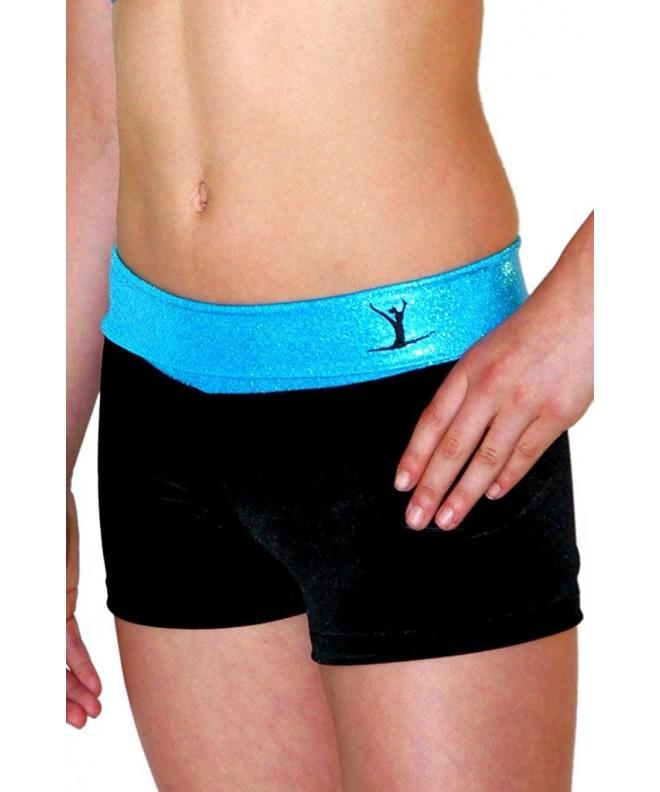 TW Aqua Black Hipster Shorts