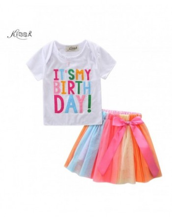 KIDSA Toddler Birthday Outfits Colorful