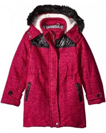 Ok Kids Girls Tweed Coat