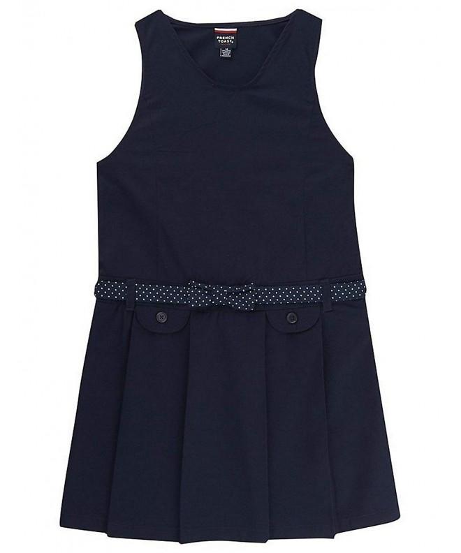 FRENCH School Uniform Belted Jumper
