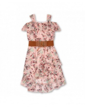 Speechless Girls Sleeveless Belted Dress