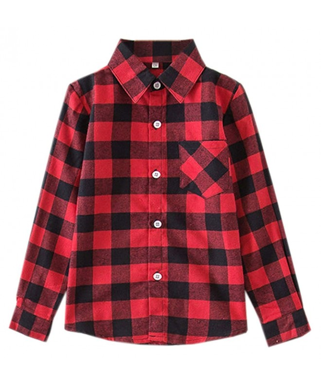 SANGTREE Mommy Girls Sleeves Flannel
