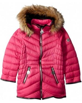 DKNY Girls Bubble Jacket Faux