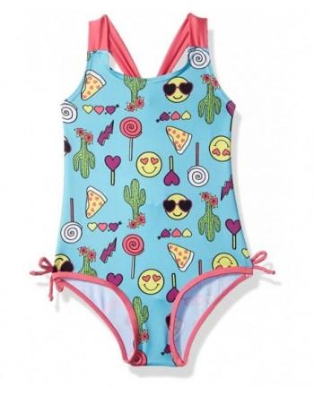 Pink Platinum Girls 1 Piece Swimsuit