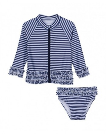 SwimZip Little Sleeve Stripe Stunner