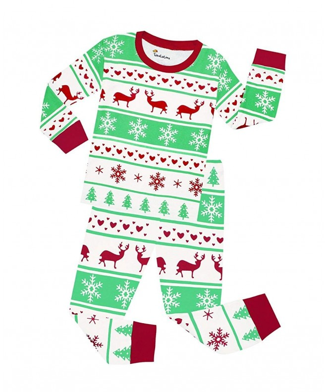 Kids Christmas Pajamas.Baby Girls Full Sleeve Reindeer Christmas Pajamas Kids