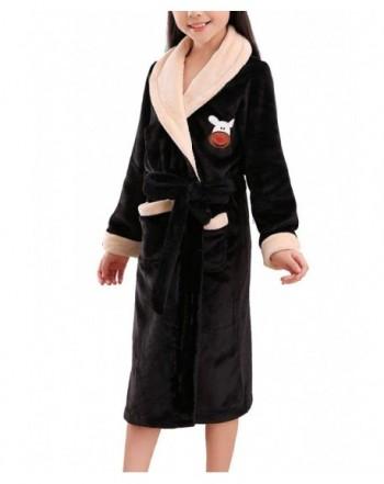 Plush Fleece Bathrobe Collar Sleepwear