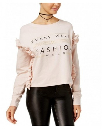 Polly Esther Juniors Ruffled Sweatshirt