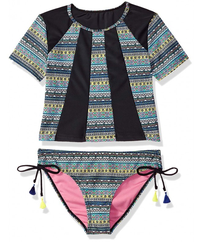 VIGOSS Girls Diamond Stripe Rashguard