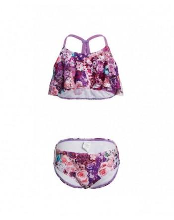 DAYU Flounce Swimwear Printed Swimsuit