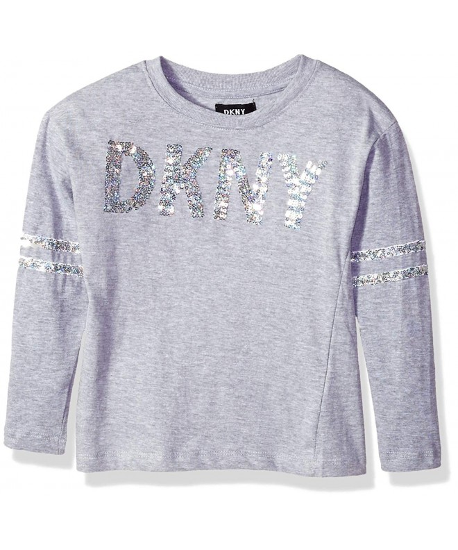 DKNY Girls Long Sleeve Sequin