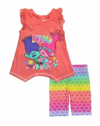 Trolls Little Girls Two Piece Bermuda