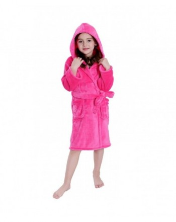 Hooded Herringbone Fleece Sleepwear Bathrobe