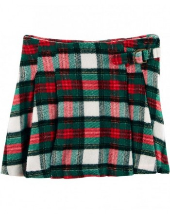 Carters Girls Plaid Pleated Skirt