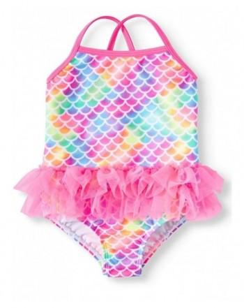 96366e2c2b416b Toddler Girls Pink Mermaid Tutu 1 Piece Swimsuit - C918OWAGU4N
