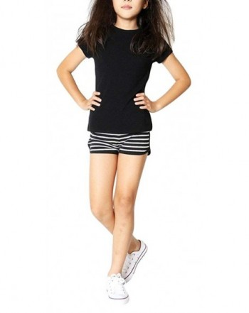 ToBeInStyle Girls Print Striped Shorts