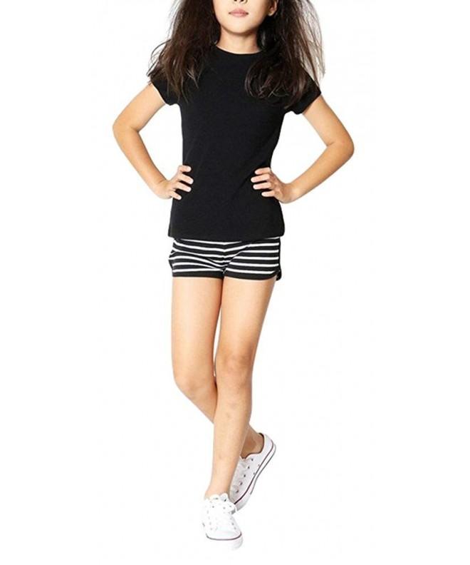 ToBeInStyle Girls Print Striped Shorts