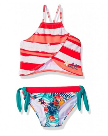 Big Chill Stripe Flamingo Tankini