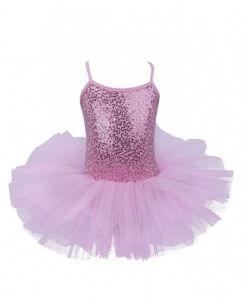 YiZYiF Camisole Sequined Ballet Leotard