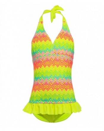 BELLOO Swimsuits Rainbow Crochet Swimwear