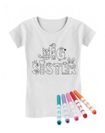Sister Coloring Markers Toddler T Shirt