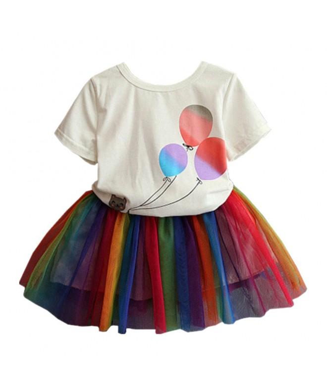 LittleSpring Little Girls Skirt Summer