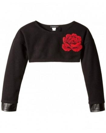 Kate Mack Girls Crop Sweater