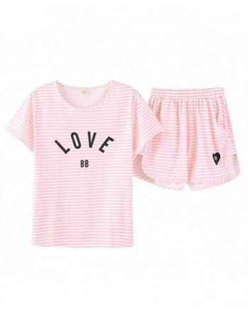 Hupohoi Summer Striped Printed Sleepwear