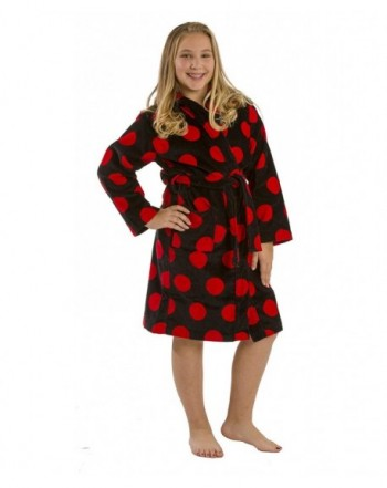 Polka Terry Cotton Hooded bathrobes