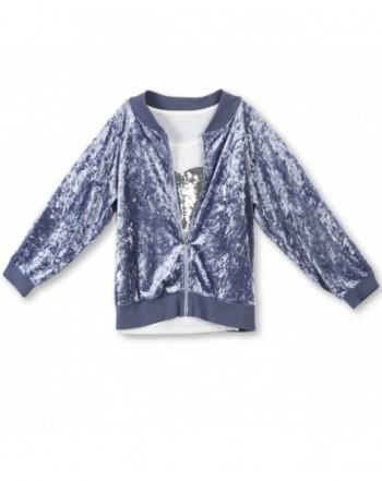 Speechless Crushed Velvet Jacket Sequin