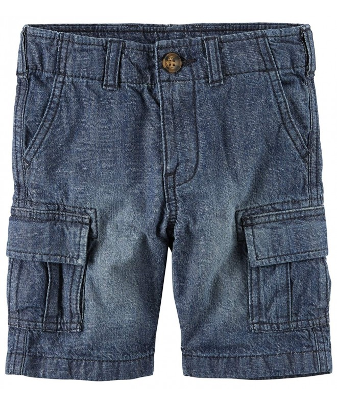 Carters Girls Denim Cargo Shorts