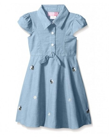Good Lad Girls Chambray Embroidery