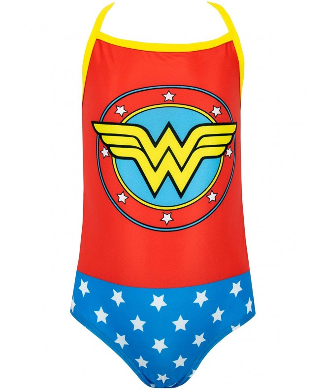 Wonder Woman Girls Comics Swimsuit