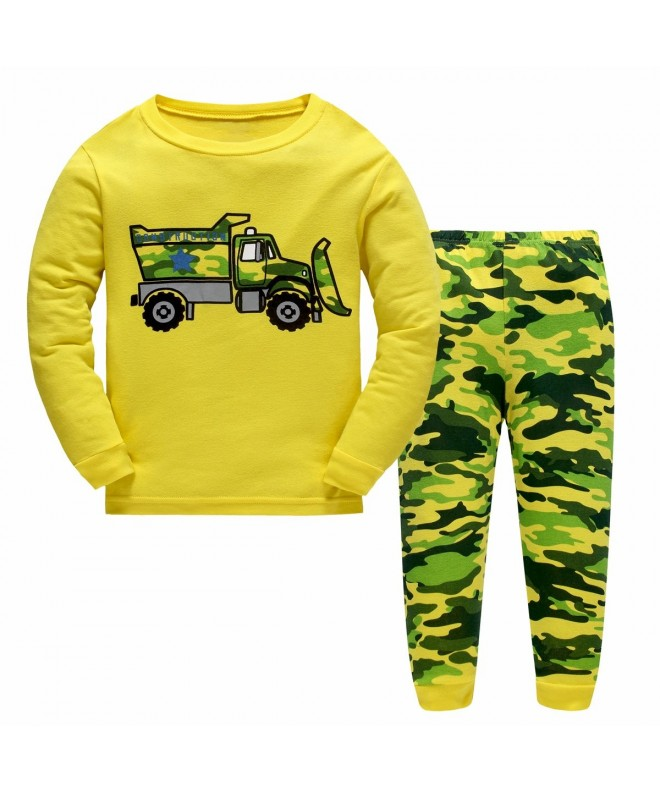 Emyrin Bulldozer Pajamas Toddler Sleeves