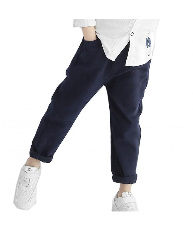 Cneokry Khaki Uniform Elastic Trousers