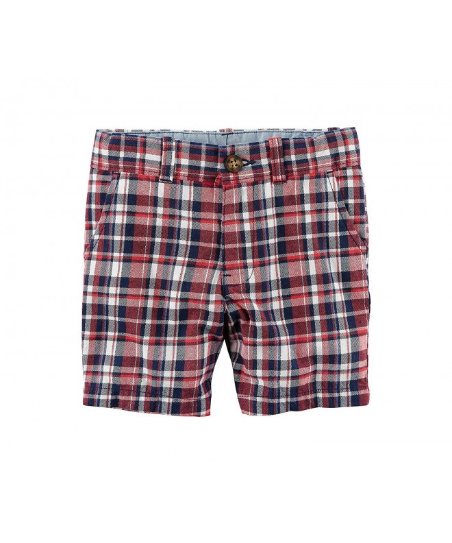 Carters Boys Pull Plaid Shorts