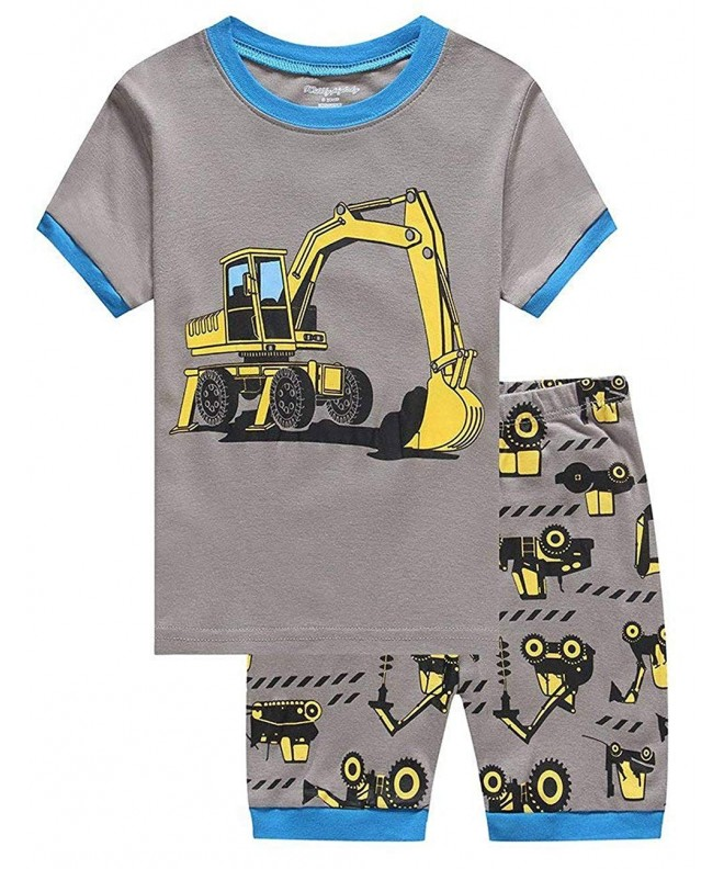Pajamas Excavator Sleepwear Childrens Clothes