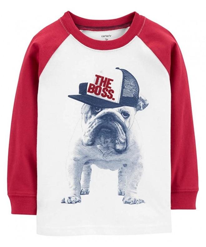 Carters Toddler Bulldog Raglan Sleeve